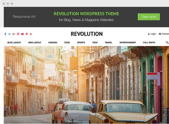 Revolution WordPress Magazine Theme - Happy Themes