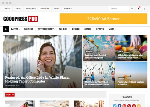 goodpress magazine wordpress theme happy themes