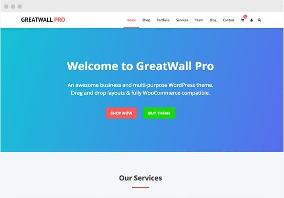 greatwall wordpress multipurpose theme happy themes
