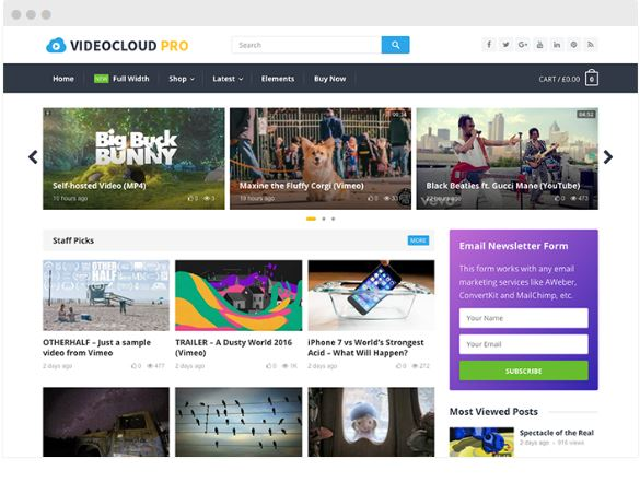videocloud wordpress themes happythemes