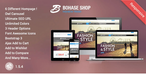 Bohase - Responsive Zen cart Theme