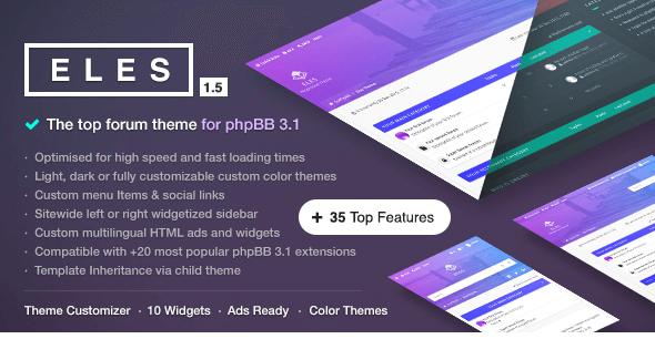 Eles v1.6.1 - Responsive phpBB 3.1 Theme