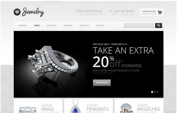 JEWELRY STORE - TEMPLATEMONSTER OPENCART TEMPLATE