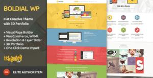 Boldial WP v2.9 - Flat Creative Theme with 3D Portfolio