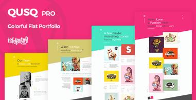 Qusq Pro v1.5 - Flat Colorful Portfolio