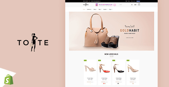 Tote v1.2 - Shoes and Bags Shopify theme