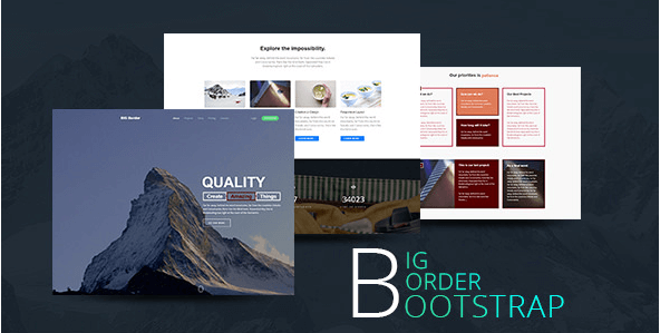BIG Border - Creative One Page Parallax Bootstrap Template