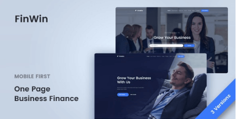 FinWin v1.1.2 - One Page Business Finance Template