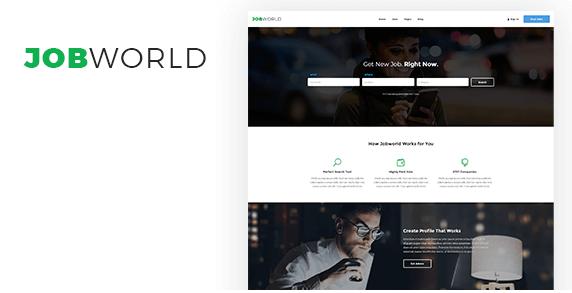 Job World - Job Portal PSD Template