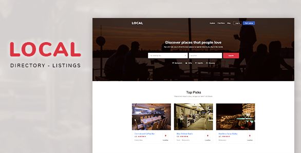 Local - Directory Listings PSD Template