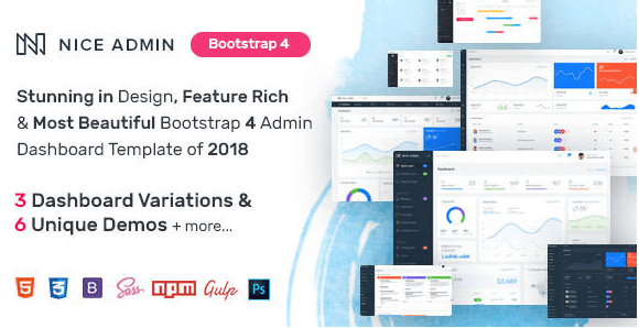 Nice Admin - Bootstrap 4 Dashboard Template