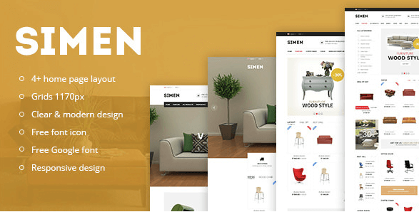 Simen - Responsive eCommerce Bootstrap Template