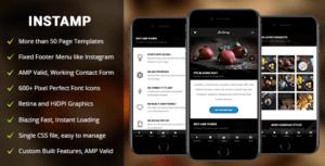 AMP Insta Mobile - Mobile Google AMP Template