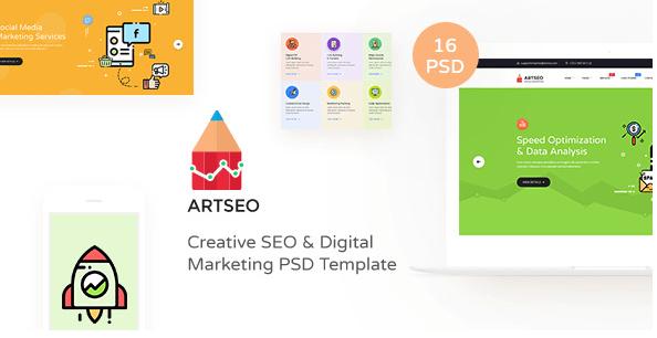 ARTSEO v1.0 - Creative Seo & Digital Marketing PSD Template