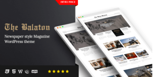 Balaton v1.0.8 - Newspaper style Magazine WordPress