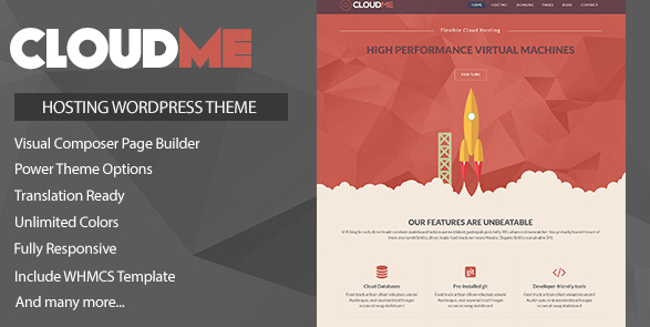 Cloudme Host v1.1 - WordPress Hosting Theme + WHMCS