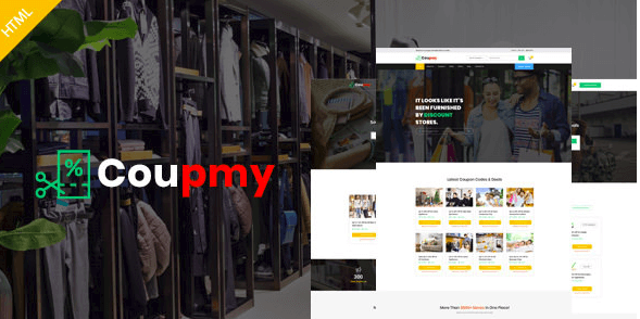 Coupmy - Coupons, Affiliates, Offers, Deals, Discounts & Marketplace HTML Template