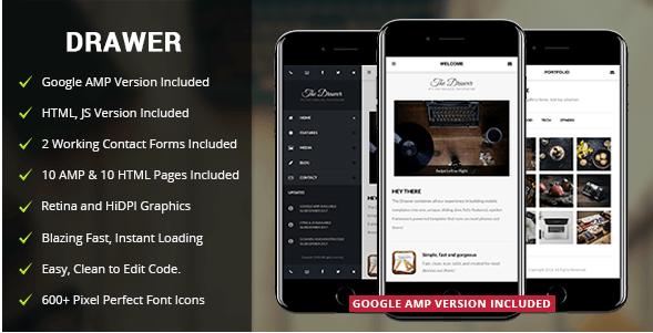Drawer Mobile v2.0 - Mobile & Google AMP Template