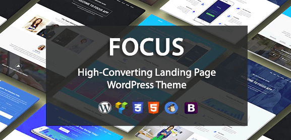 Focus High v1.1 - Converting Landing Page WordPress Theme