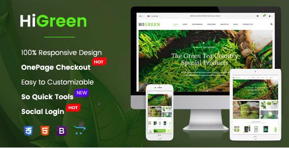 HiGreen v1 0 1 - Multipurpose OpenCart Theme for Online Shop