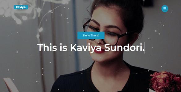 Kaviya - Portfolio HTML Template