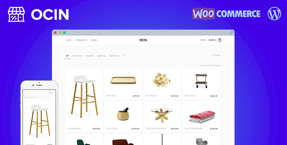 Ocin v1.4.12 - Responsive WordPress WooCommerce Theme