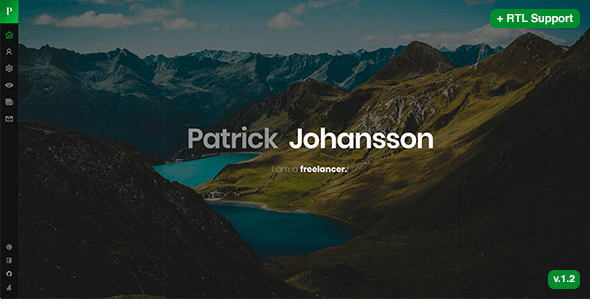 Patrick v1.2 - Personal vCard / Resume / CV Template