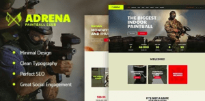 Adrena v1.2.2 - Airsoft Club & Paintball WordPress Theme